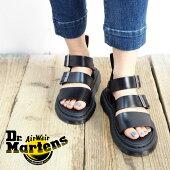 Dr.MartensドクターマーチンGRYPHONグリフォン15695001サンダルレディースストラップサンダルベルトサンダルコンフォートサンダルコンフォート靴シューズシンプルカジュアルスポーティー歩きやすい厚底ストラップベルトレザー黒ブラック