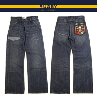 Rugby Ralph Lauren denim Rugby Ralph Lauren jeans Indigo Denim buggy fit bootcut vintage & damage processing 02P03mar13