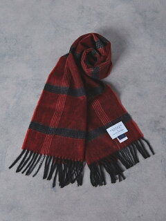 Wool Angora Scarf 1336-499-3533: Red