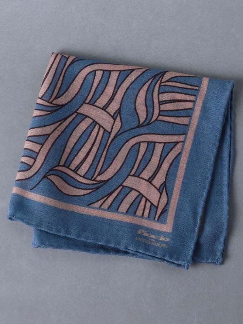 [Rakuten Fashion]<FIORIO(フィオリオ)>ポケットチーフ UNITED ARROWS ユナイテッドアローズ ファッショングッズ ハンカチ/タオル ブルー ブラウン【送料無料】
