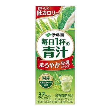 伊藤園毎日1杯の青汁 まろやか豆乳ミックス200ml 紙パック 24本入