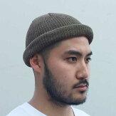 【ADVANCE】(アドバンス)COTTONBEANIE(OLIVE)/SOLIDSUMMERKNITBEANIECAP/くるくるビーニーワッチキャップ帽子無地夏ニット帽オリーブグリーン