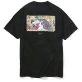 【FLATLUX(フラットラックス)】NURANURATEE(BLACK)ぬらぬら春画浮世絵葛飾北斎NAGA百鬼性行喜多川歌麿ビッグサイズ大きいサイズ