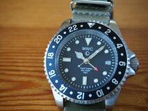MWC時計/ミリタリーダイバーGMT/2ヶ国時刻/クォーツ/Ronda515.24/ステンレスベルト/300m防水