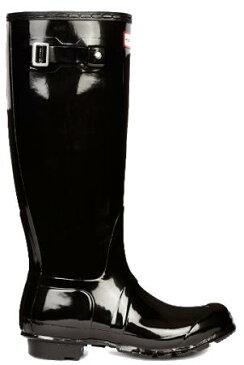 <特別価格!>HUNTER【ハンター】ORIGINAL TALL GLOSS BLACKオリジナルトールグロスブラックレインブーツ ラバーブーツ 長靴