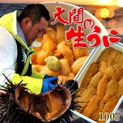 うに生うに100g 大間漁師の生ウニパック詰め[約2-3人前]青森県大間産ムラサキウニおすすめ旬ギフト