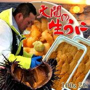 うに生うに100g×2個 大間漁師の生ウニパック詰め[約2-3人前×2P]青森県大間産ムラサキウニおすすめ旬ギフト送料無料