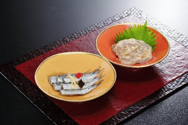 珍味沙美(4)2品(貝柱の粕漬・ままかりの沙美漬)