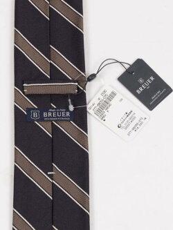【国内正規品】BREUERブリューワーシルクネクタイレジメンタルストライプ277-88056-07ネイビーカーキ
