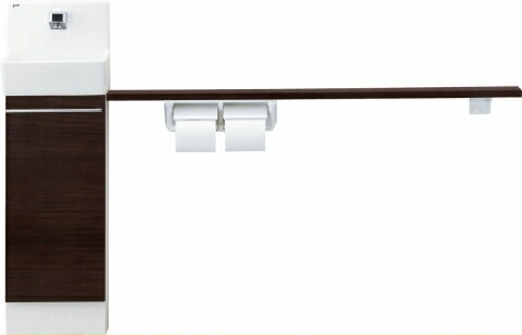 INAX LIXIL・リクシル コフレル 【YL-DA82SKH12B】 トイレ手洗 スリム(壁付) ハンドル水栓 カウンター キャビネットタイプ(左右共通) 【YLDA82SKH12B】【メーカー直送(土曜配送可)のみ・代引き不可・NP後払い不可】[新品]【RCP】:住宅設備のプロショップDOOON!!