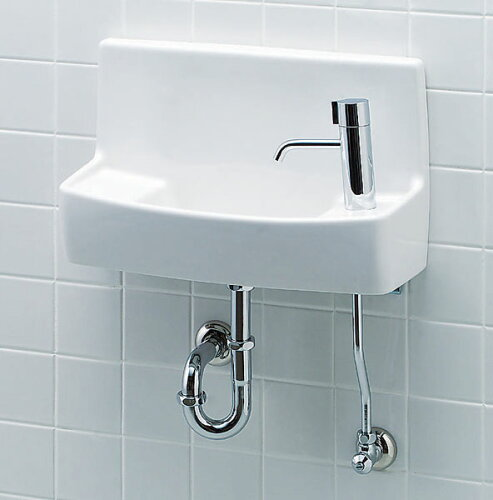 L-A74HA INAX LIXIL・リクシル トイレ用手洗い器 ハンドル水栓 壁給水・床排水 ハイパーキラ...