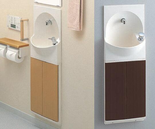 TOTO トイレ 手洗器付キャビネット 【YSC46SX#MV】(ダルブラウン) 【YSC46SX#ML】(ミルベージュ) ハンドル式水栓タイプ[新品]【RCP】:住宅設備のプロショップDOOON!!