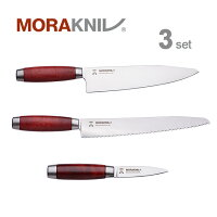 MoraknivKitchenKnife3setClassic1891,redモーラナイフキッチンナイフ3本セットクラシック1891レッド【正規品】