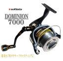 スピニングリール7000番/DOMINION/8号ナイロンラ...