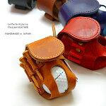 ゴルフボールケースホルダーイタリアンレザー製本革牛革レザー本皮牛皮収納ケースティーボールグリーンフォーク日本製国産ギフトシンプルおしゃれプレゼント
