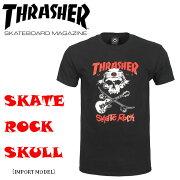 THRASHERスラッシャー/SKATEROCKSKULLTEE/メンズ半袖Tシャツアメリカサイズストリートスケートボードスケボー/110206
