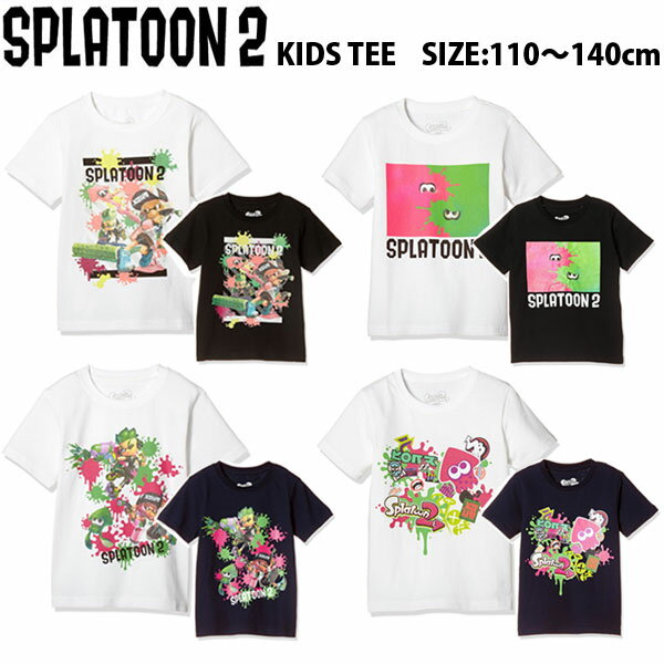 トップス, Tシャツ・カットソー 2 Splatoon2 T 2 BANDAI KIDS LADIES TEE 6110120130140150160cm 4 Nintendo Switch