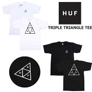 HUF(ハフ)TシャツTRIPLETRIANGLES/STEEトリプルトライアングルロゴT半袖USAモデルTシャツクルーネック半袖メンズレディースカットソースケートボードストリート/TSBSC1114