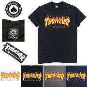 THRASHER[スラッシャー]FLAMELOGOS/ST-Shirt(マガジンマグ半袖Tシャツメンズ)IMPORTUSAサイズストリートカジュアルファッションスケートボードブランド【SKATEBOARDSThrasherSkateFlameLogoT-Shirt】BLACK/WHITE/GRAY/NAVY