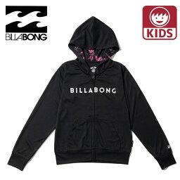 BILLABONG キッズ ラッシュ ラッシュガード パーカー バックプリントし ビラボン BA015852 長袖 ブラック
