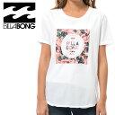 ビラボン ロゴ 黒色 プリントTシャツ レディスTシャツ サーフブランド BILLABONG 白Tシャツ 販売 通販 即納 人気