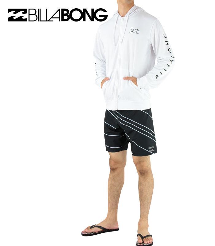 SALE-BILLABONG-AH011867-WHT-ビラボン-長袖-ジップフード-ラッシュガード-袖ロゴ-バックプリント