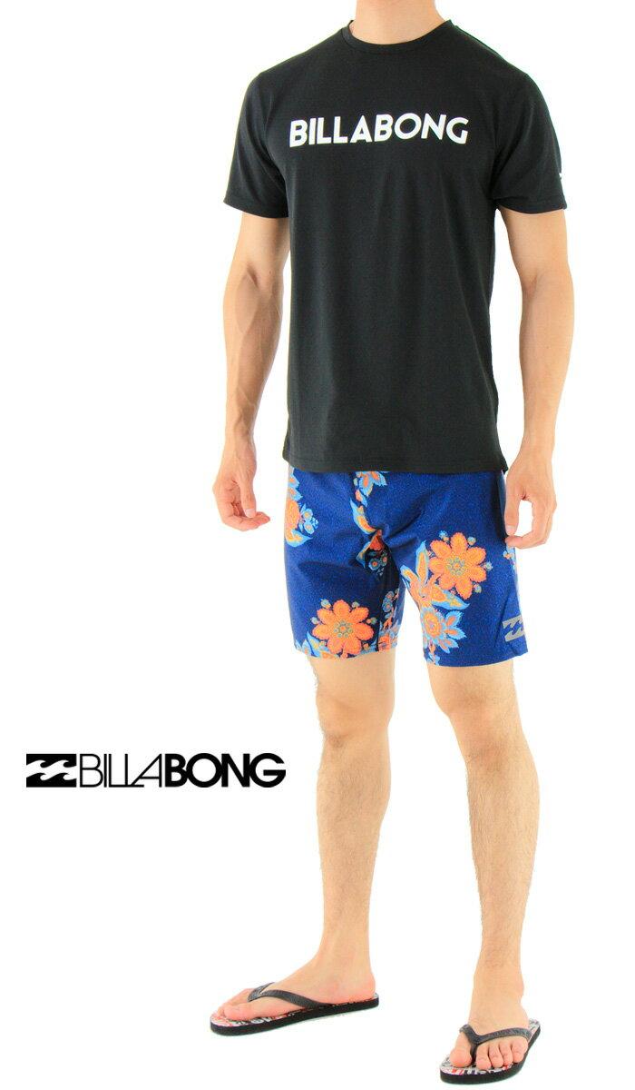 BILLABONG(ビラボン)-メンズボードショーツ-水着-花柄-【AH011-509-BLU】19インチ-4wayストレッチ-撥水-サーフトランクス