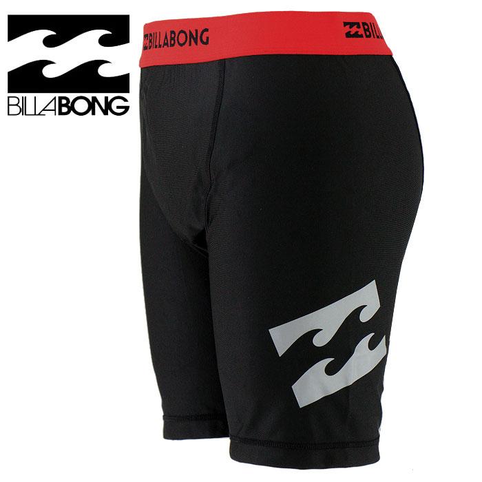 セール-BILLABONG(ビラボン)-メンズ-サーフインナーパンツ-インナーサポーター-水着-AG011-490-RED-黒x赤ライン