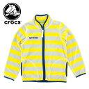キッズ-フリース-ジャケット-crocs-145204-子供服-ジップアップ-ブルゾン-アウター-子供用-ボーダー柄