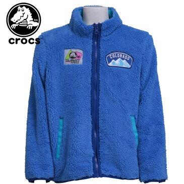 キッズ クロックス ジャンバー 110-160cm 長袖 ガールズ ボーイズ パーカー crocs 148278 アウター ブルー