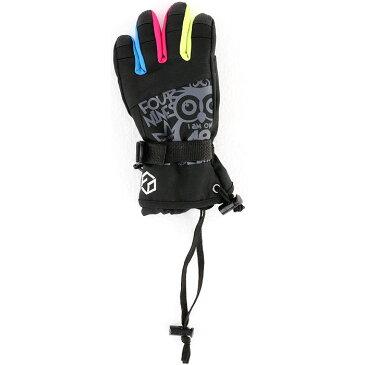 フォーナインズ キッズスノーグローブ スノボーグローブ スキー スノーボード 手袋 アウトドア 黒 ブラック