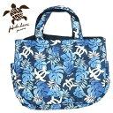 フララニ トートバッグ 大容量 ハワイアンバッグ 旅行バッグ マザーズバッグ 軽量 かばん 紺 ALOHA