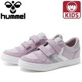 ヒュンメル スニーカー キッズ hummel STADIL LOW JR ピンク ジュニアサイズ HM205756-3518