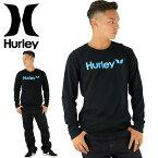 ハーレー メンズ ロンT HURLEY MTLSOAOPK ブラック 黒 ロゴTEE 男性用 長袖 ロゴ ロングティーシャツ