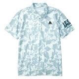 Lecoqsportif ポロシャツ カジュアル ゴルフ 半袖 QMMPJA43 クールビズ スポーツウェア メンズ ホワイト