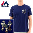 【】セールMAJESTIC Tシャツ 迷彩柄 NEWYORK YANKEES【NVY5/紺】ヤンキースTシャツ マジェスティック NYK-0171
