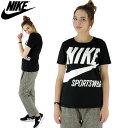 ナイキ レディース Tシャツ ビッグロゴTシャツ 黒 ビッグスウッシュTシャツ NIKE Tシャツ 878112-010