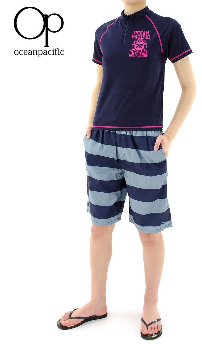 【セール】-オーピー-キッズ-半袖ラッシュガード-OP-ラッシュガード-水着-子供用-566490-D