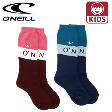 オニール 子供用 スノーボードソックス キッズ 厚手 ソックス 靴下 2P 防寒ソックス ONEILL 648990