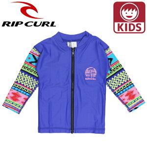 リップカール キッズ ベビーラッシュガード Tシャツ 長そでラッシュ 子ども用水着 RIPCURL ブルー