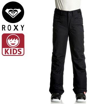 10K 耐水性 ロキシー スノーパンツ 無地 撥水 スキーウェア ボトムス スノボ ROXY ズボン KVJ0 黒 ブラック