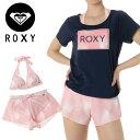 レディース ロキシー セパレート ビキニ Tシャツ パンツ セット 三点セット 水着 ネイビー ROXY RSW191010