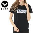 Tシャツ ロキシー ボックスロゴ BOTANICAL HEALING ROXY ブラック RST191171
