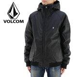VOLCOM ボルコム メンズジャケット 黒 ブラック 100%PU アウター カジュアル ヘビーウェイトジャケット