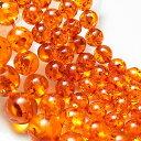 アンバー(人工)琥珀 6mm珠連売り:一連約40cm 激安卸価格で限定販売アン...