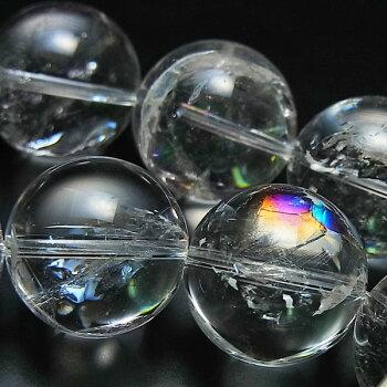 アイリスクォーツAAAA天然水晶天然レインボークォーツ【連販売】【約18mm珠×22珠】│天然石|パワーストーン|ブレスレット|アイリス水晶|天然虹入り水晶|水晶|ビーズ|連