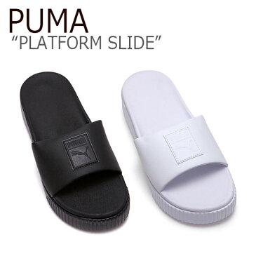 プーマ スリッパ PUMA レディース PLATFORM SLIDE プラットフォーム スライド BLACK WHITE ブラック ホワイト FLPU9S1W30 FLPU9S1W31 シューズ 【中古】未使用品