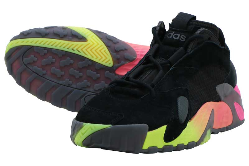 メンズ靴, スニーカー adidas STREETBALL CORE BLACKSOLAR YELLOWSHOCK PINK