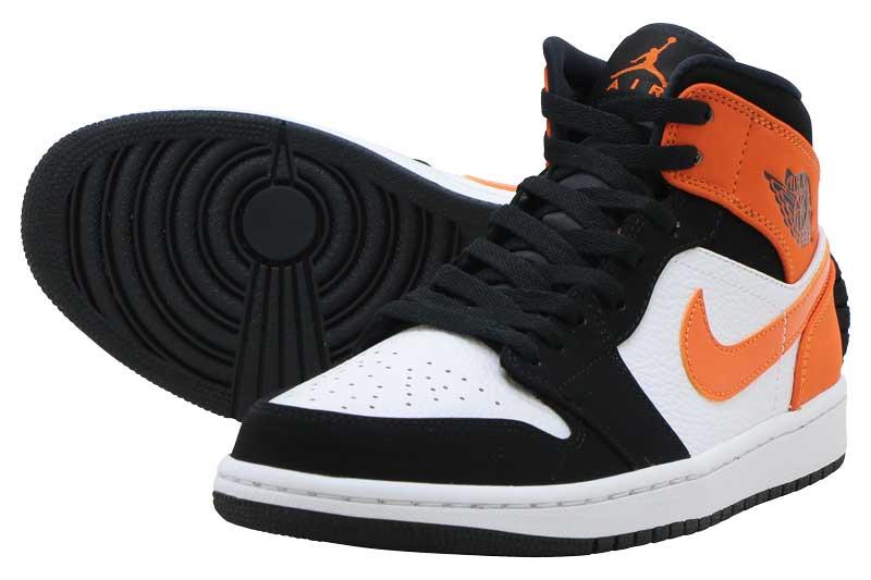 メンズ靴, スニーカー FINAL SALEAIR JORDAN 1 MID 1 BLACKBLACK-STARFISH-WHITE