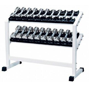 ステンレスダンベル ラック付 1〜10kgセット(6〜10kg回転式)RSS-5500 【中旺ヘルス】【送料無料】【ダンベル】【ダンベル セット】